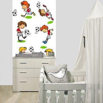 tapeta z piłkarzami do pokoju dziecka