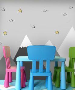 ośnieżone szczyty na ścianę dla dziecka