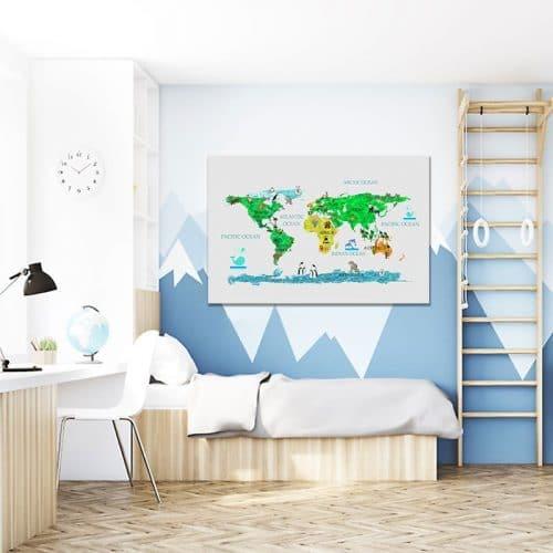 Dekoracja kolorowa mapa