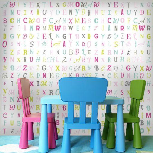 Fototapeta do pokoju dziecięcego z literkami