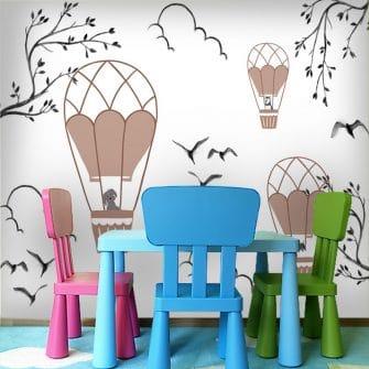 Dekoracja z balonami do pokoju maluszka