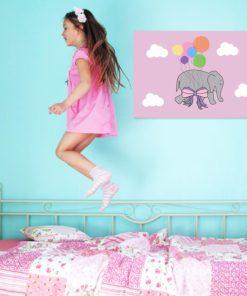 obraz z chmurkami i slonikiem