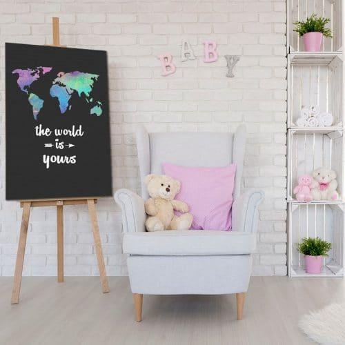 obrazek dla chłopca lub dziewczynki z mapą