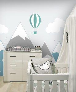 ścienna dekoracja z balonami