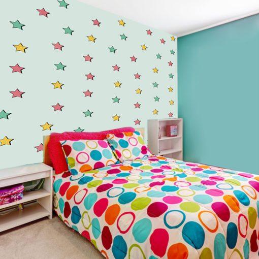 Ozdoba ścienna z gwiazdkami do pokoju dziecka