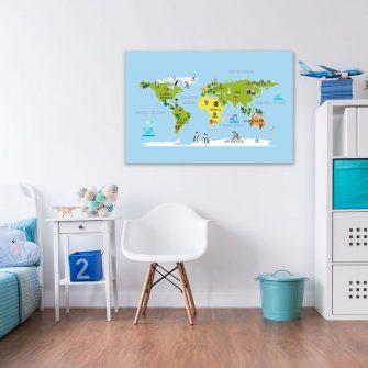 Obraz mapa świata