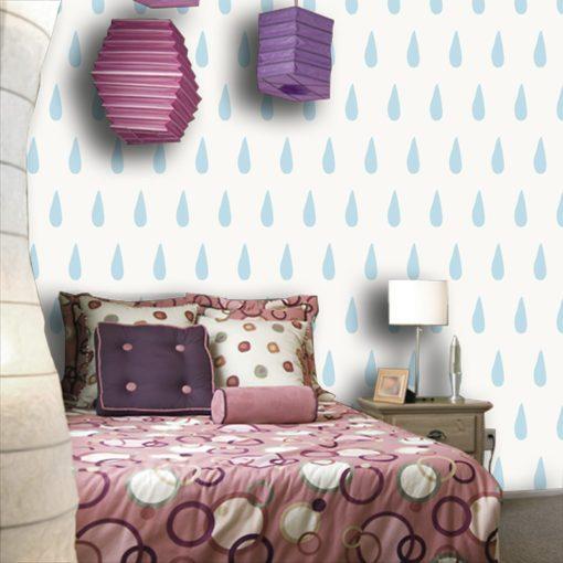 Dekoracja z niebieskimi łezkami do pokoju dziecka