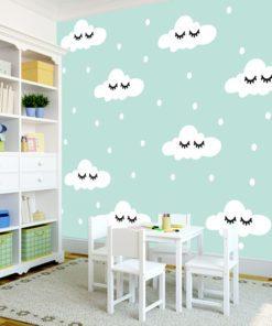Ozdoba ścienna z motywem chmurek dla dzieci