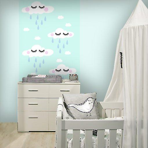 Dekoracja ścienna z ślicznym wzorem do pokoiku dziecka