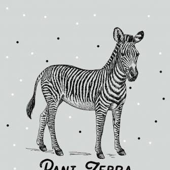 Genialna dekoracja do pokoików dziecięcych - Pani Zebra