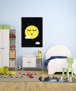 Piękny obrazek w modnej kolorystyce do pokoju dziecka