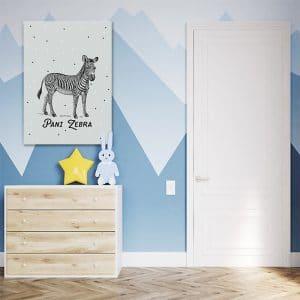 Urzekająca dekoracja dla dzieci - Obraz z Panią Zebrą