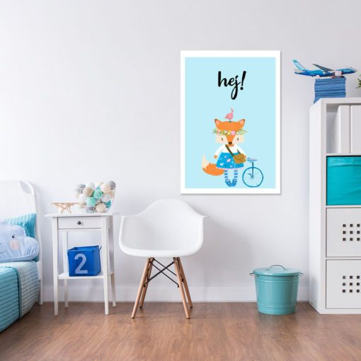 Świetna dekoracja dziecięcych wnętrz - Pani lis