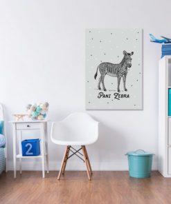 Obrazek do pokoju dziecięcego z motywem zebry