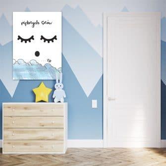 Uroczy motyw na obrazi do pokoiku dziecka - Pięknych snów