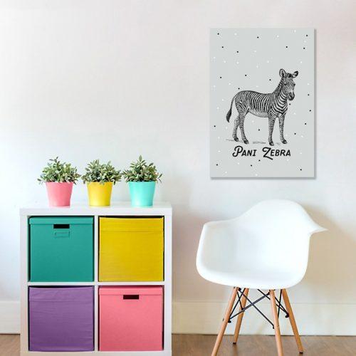 Pani Zebra - Piękny obraz dla dzieci