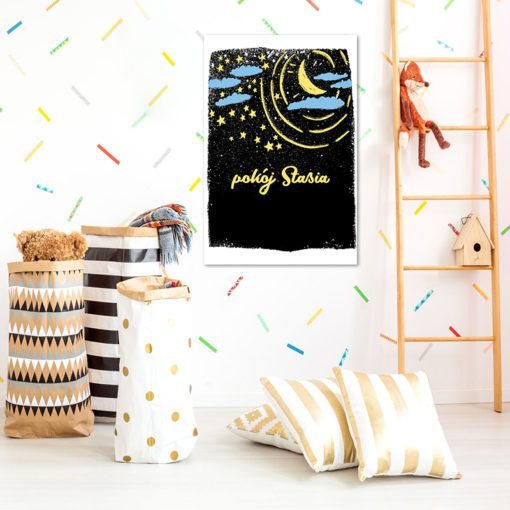 Obrazek nad łóżeczko z imieniem dziecka