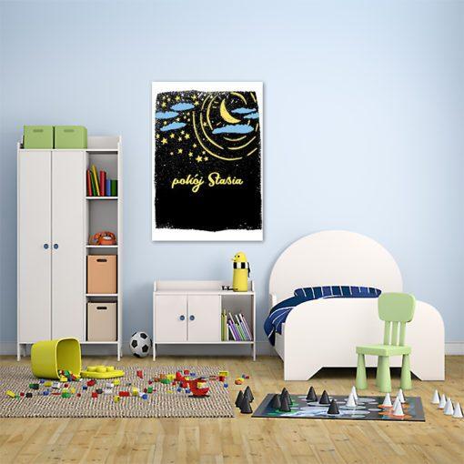 Świetny akcent dekoracyjny w postaci obrazka z imieniem do pokoju dziecięcego