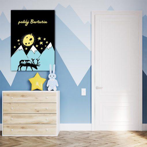Obrazek z imieniem do powieszenia nad łóżeczko dziecka