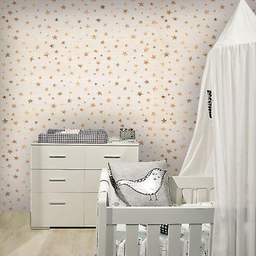 Fototapeta z modnym wzorem w gwiazdki do pokoiku dziecka