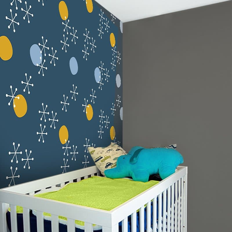 Fototapeta z modnym wzorem do upiększenia ścian w pokoju dziecka