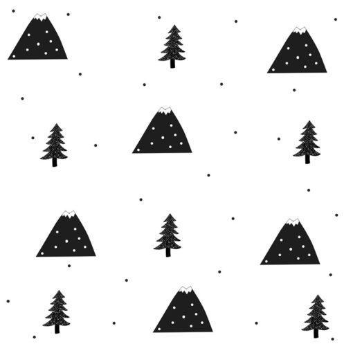 Ozdoba na ścianę w pokoiku dziecka - góry i drzewka