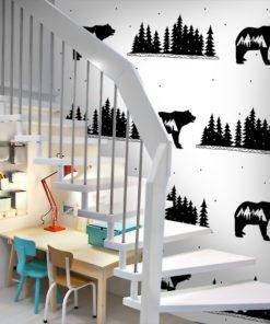 Fototapeta z elementami górskimi do upiększenia ścian w pokoju dziecka