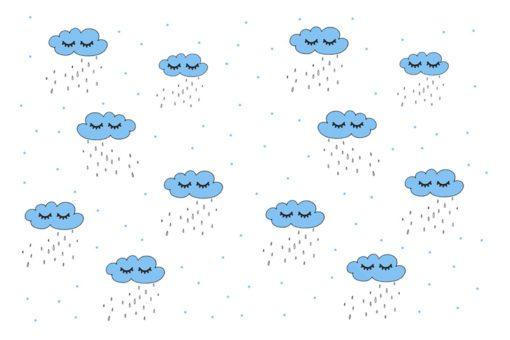 Urzekająca fototapeta z motywem chmurek do pokoju chłopca lub dziewczynki