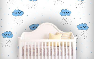 Dekoracje do pokoju niemowlaka – dekoracje o delikatnej kolorystyce