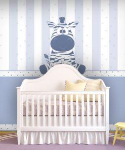 Fioletowa zebra - fototapeta do pokoju dziecka