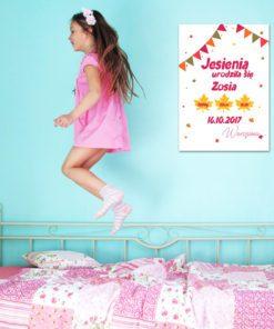 metryczka dla dziewczynki - doskonały prezent na narodziny dziecka