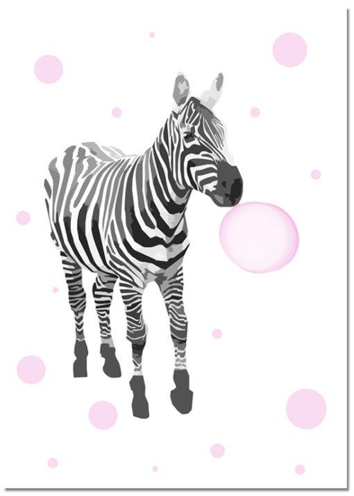 plakat z zebrą - ciekawa ozdoba dziecięcych wnętrz