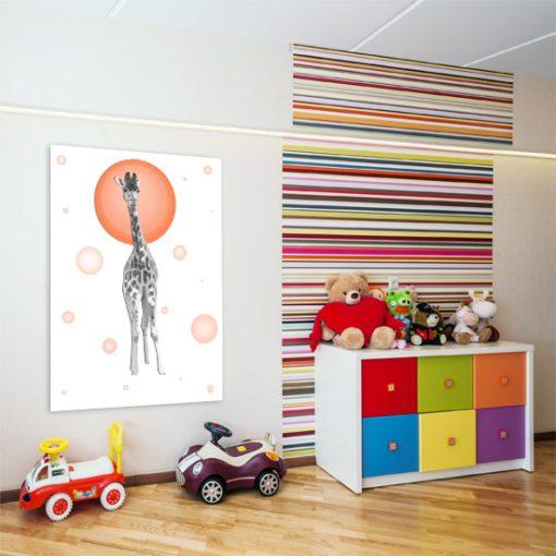 Modny plakat z motywem żyrafy do pokoju dziecka