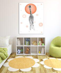 Żyrafka z pomarańczowymi akcentami - do pokoju dziecka