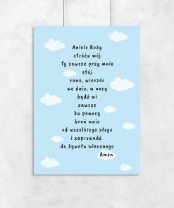 plakat z modlitwą do pokoju dziecka