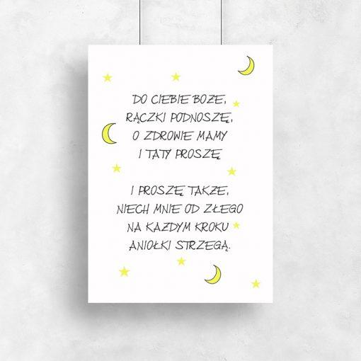 plakat z modlitwą dla dzieci