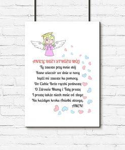 plakat do pokoju dziecka z modlitwą