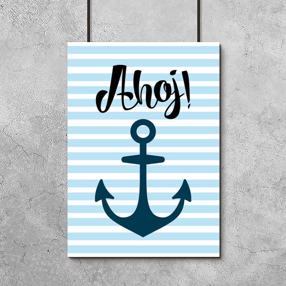 Plakat Marynarskim Motywem Do Pokoju Chłopca