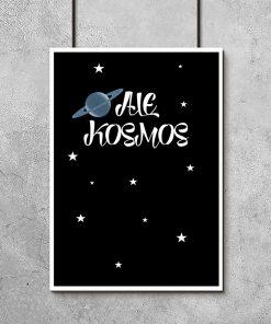 plakaty do pokoju chłopca kosmos
