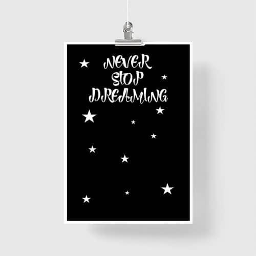plakat do pokoju dziecka gwiazdy i kosmos