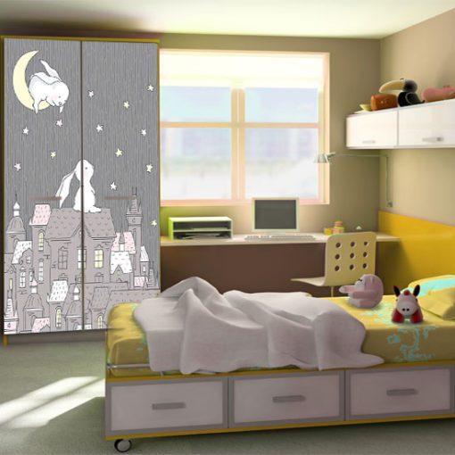 tapeta z króliczkami do pokoju chłopca lub dziewczynki