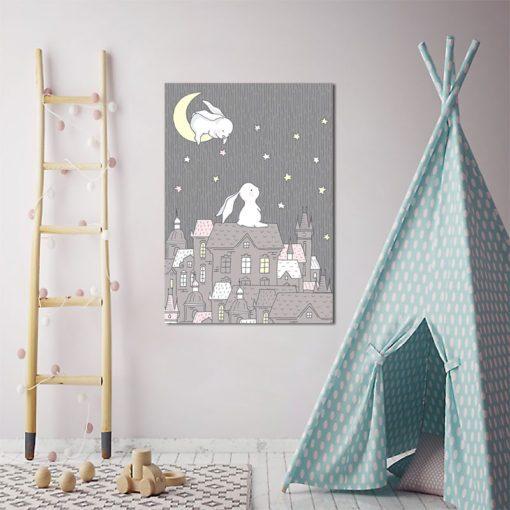 plakat z królikami do pokoju dziecka