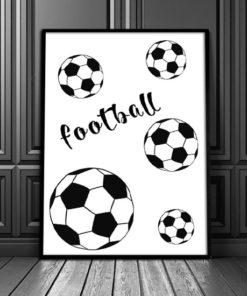 plakat piłka i napis '' football