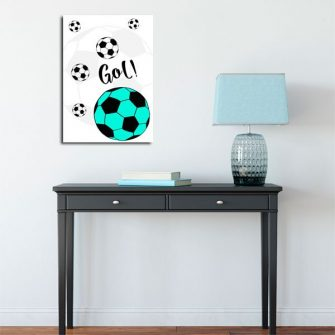 plakat z piłką nożną