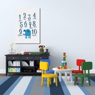 plakat edukacyjny z liczbami dla dziecka