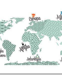 piękny obraz z mapą
