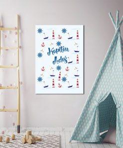 plakat marynarski z imieniem dziecka