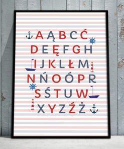 modny plakat z alfabetem