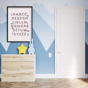 alfabet do pokoju dziecka