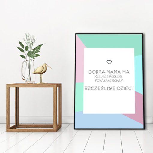 stylowy plakat z napisem